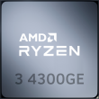 Ryzen 3 4300GE 3.5GHz 4C/8T 35W AM4 APU with Radeon Graphics 6