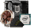 Quiet PC Intel 7th Gen CPU and micro-ATX Motherboard Bundle