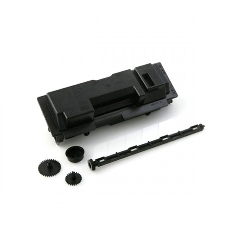 KYOCERA toner cassette contains 5 pieces made out of 2 types of plastic, ID coded for easy recycling.