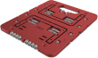 Streacom ST-BC1 Mini Red Aluminium Open Benchtable